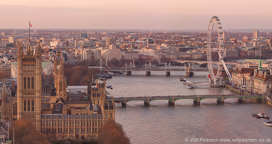 golden mile london skyline panorama