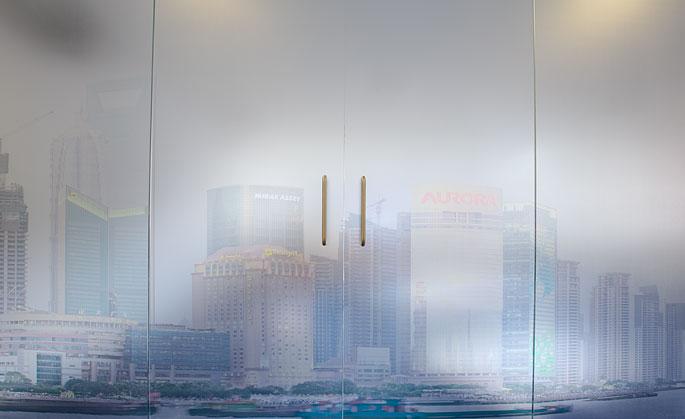 Shanghai skyline panorama in situ 2 © Will Pearson.