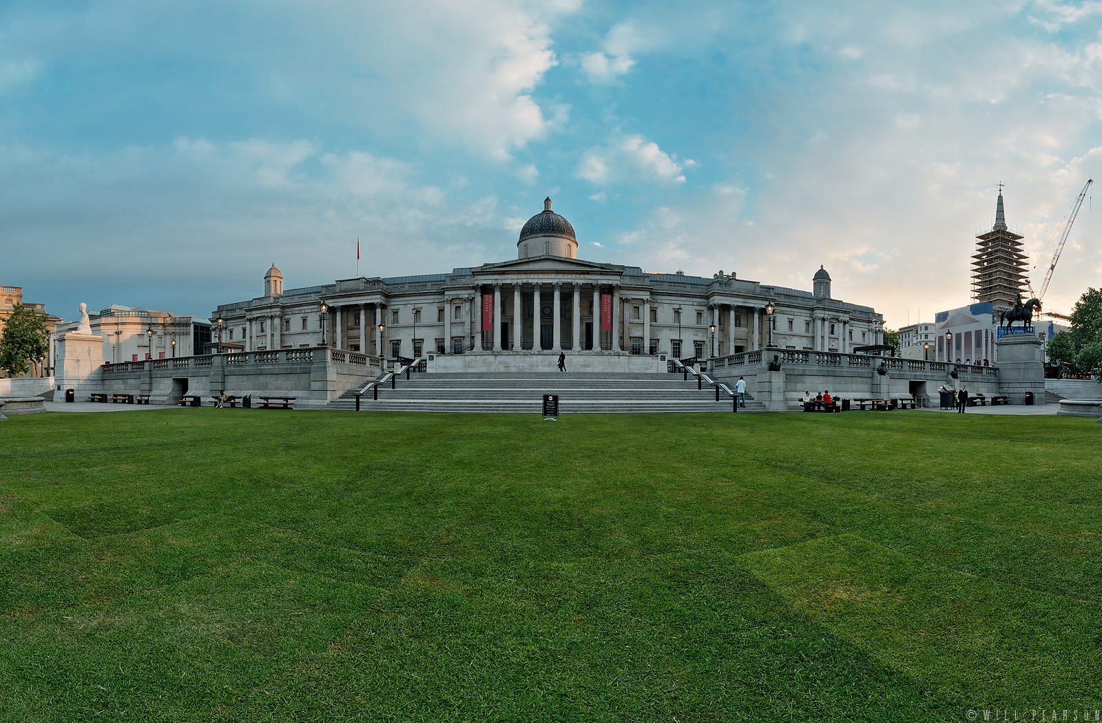 Trafalgar Square with Green Grass!
