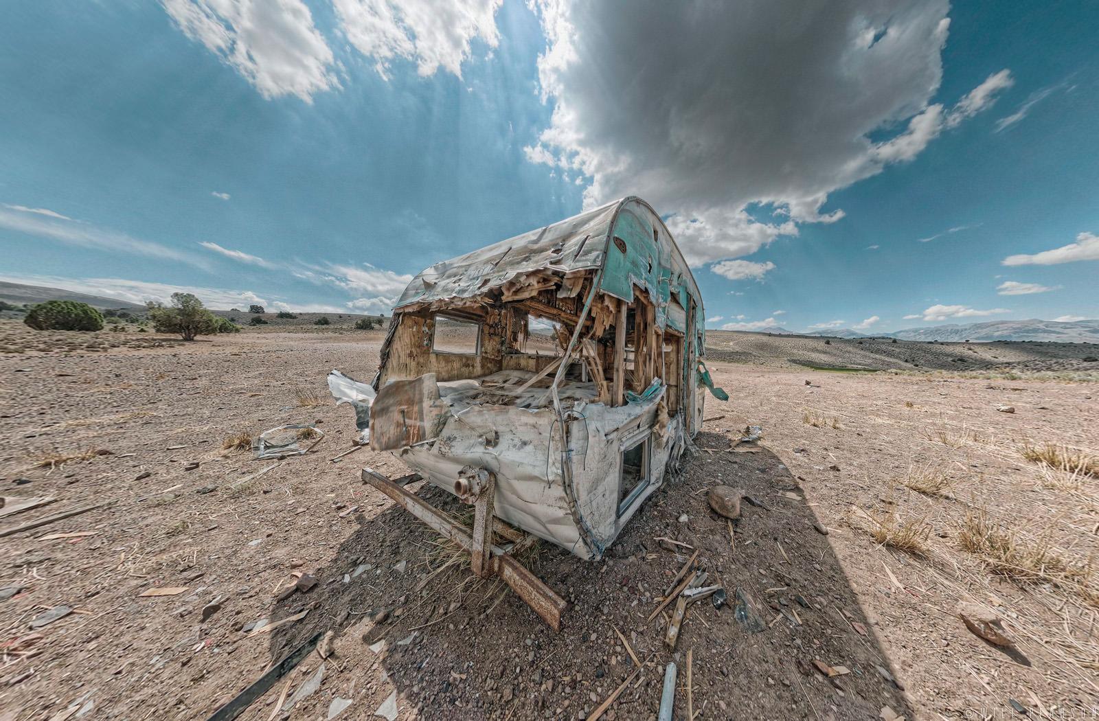 Derelict Caravan, Bodie, California