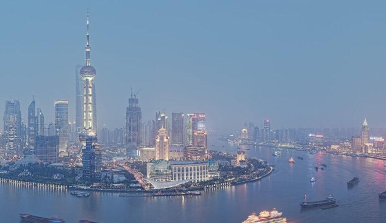 Blue Hour Huangpu Riiver Shanghai