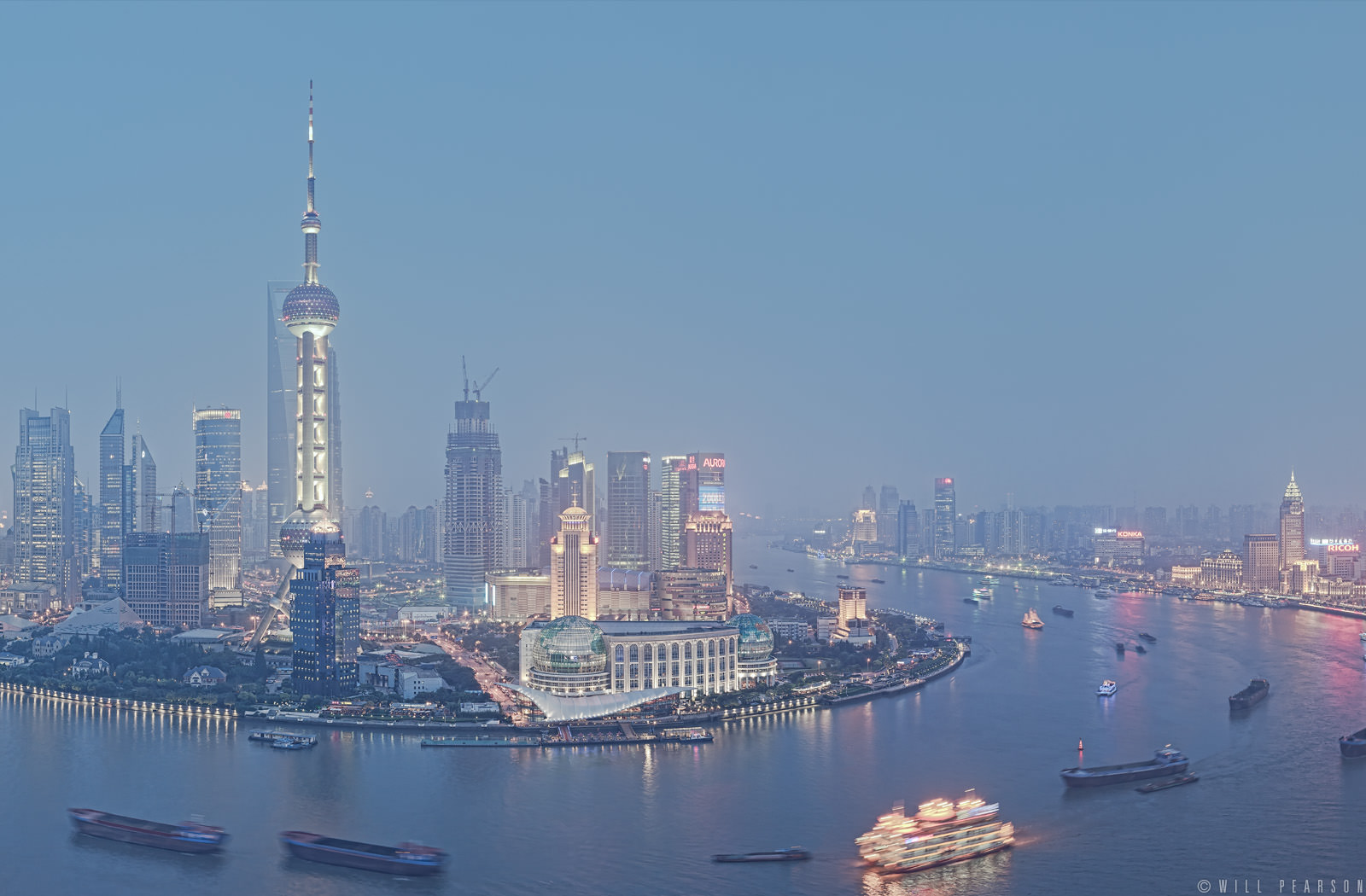 Blue Hour over the Huangpu River, Shanghai