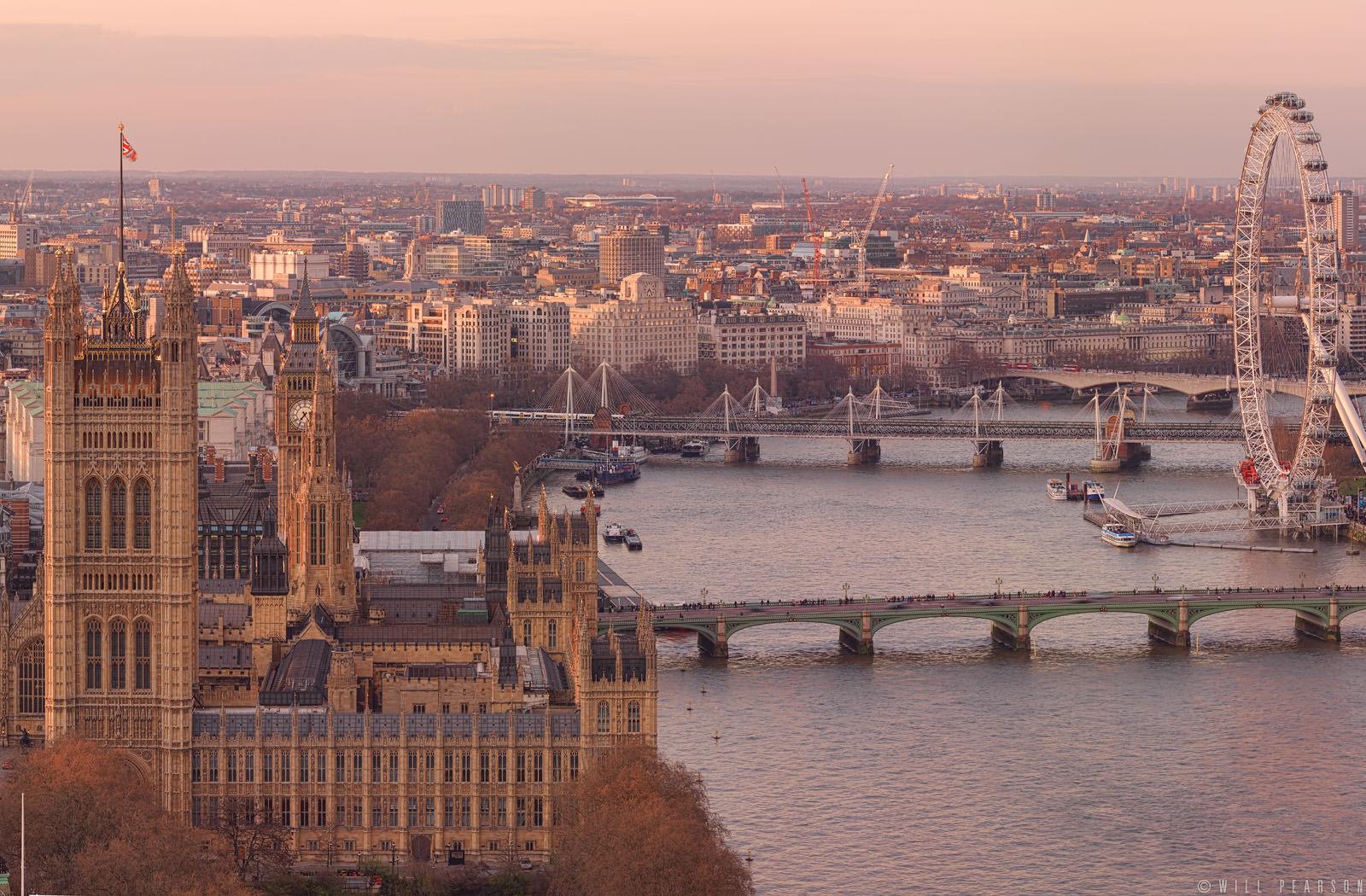Golden Mile – London Skyline Gigapixel Panorama