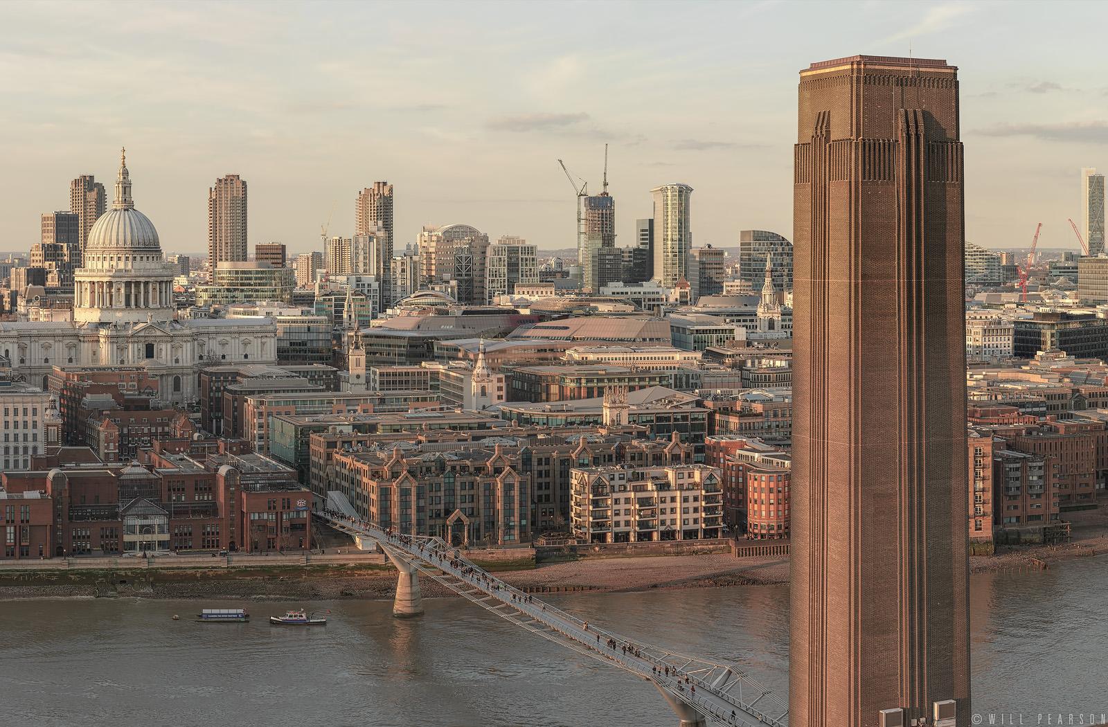 London Stilled in Evening