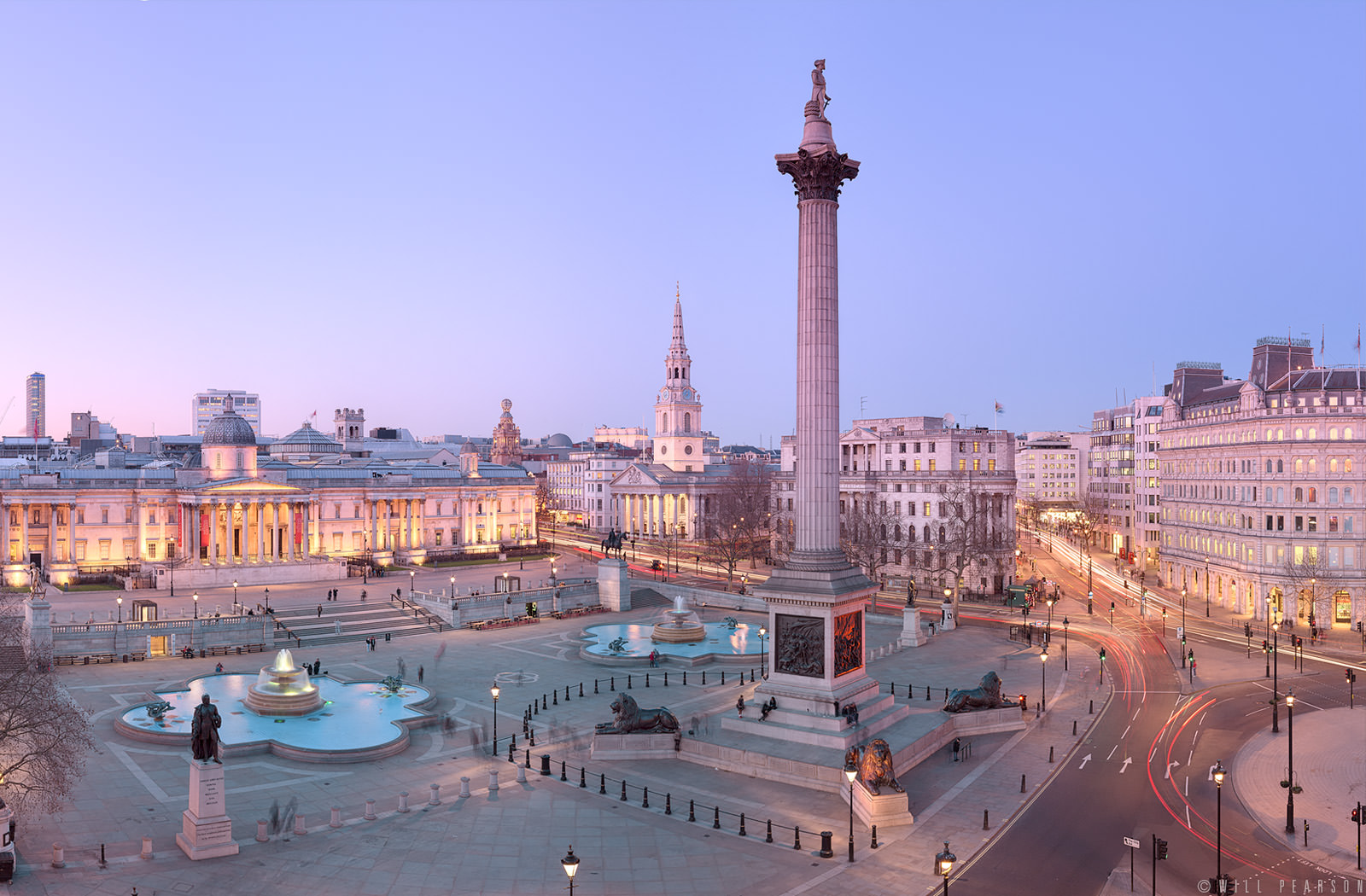 Trafalgar Square Twilight Panorama