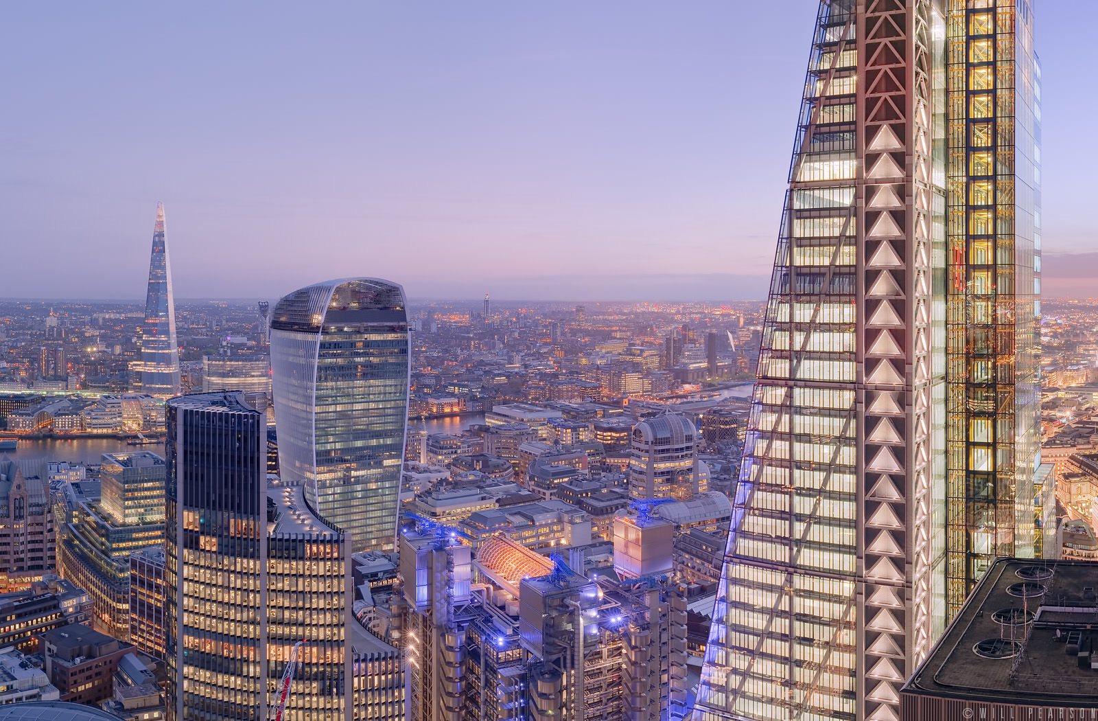 30 St Mary Axe 360 Panorama, Dawn to Dusk