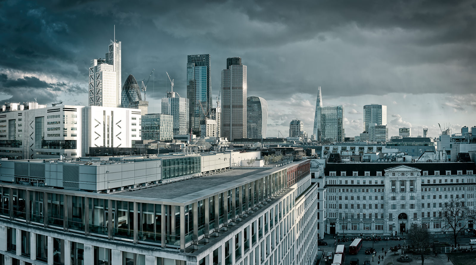 The City From Finsbury Square Acrylic - Will Pearson Fine Art Photographic Print