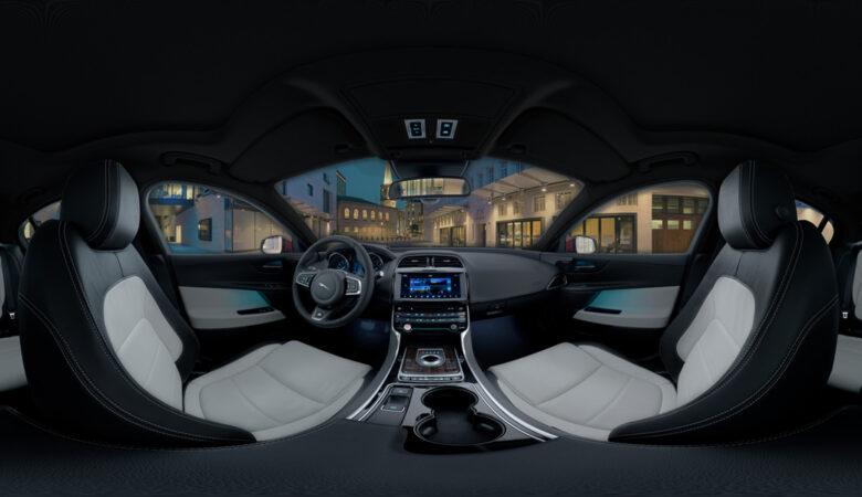 360 car photography with 360 HDRI london backplate